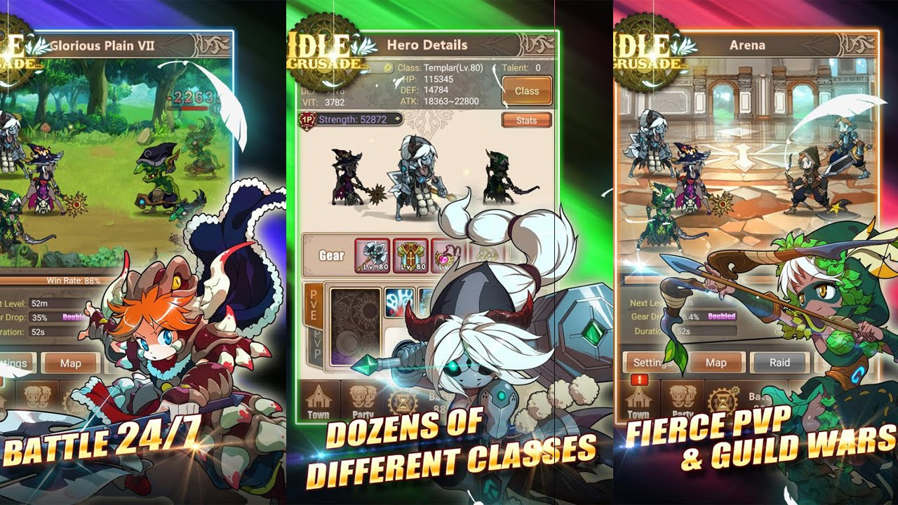 Idle Crusade Gameplay Ios Android Youtube