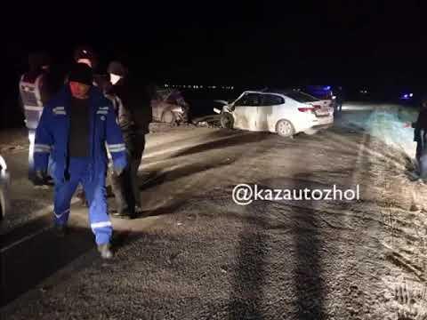 Двое погибших в результате ДТП на трассе Нур-Султан-Павлодар