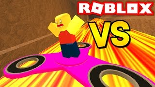 1,000 MPH FIDGET SPINNER VS ROBLOX! (Roblox Fidget Spinner Obby)