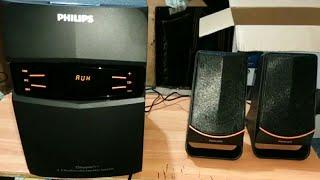 Philips 2 1 Multimedia speaker MMS 2550f 94 Unboxing