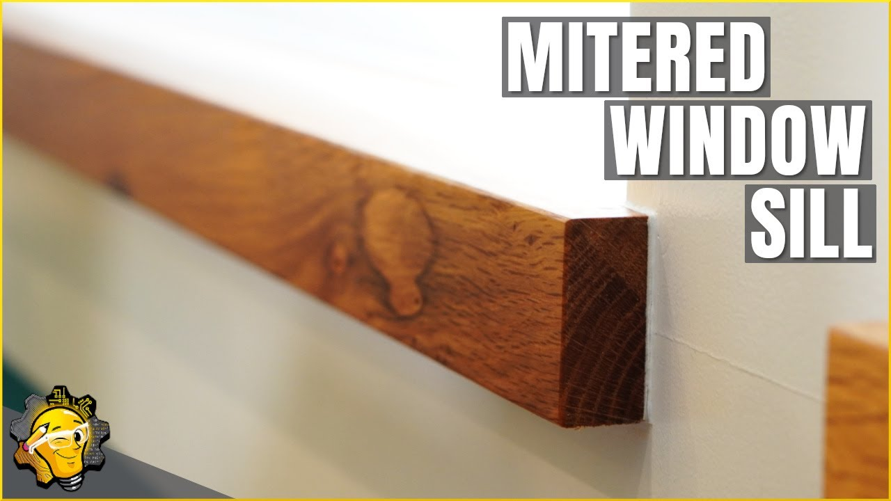 Modern window sill - Mitered Window Sill And The Mighty Tape Clamp