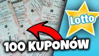 Wysłałem 100 KUPONÓW LOTTO! | Ile wygrałem!?