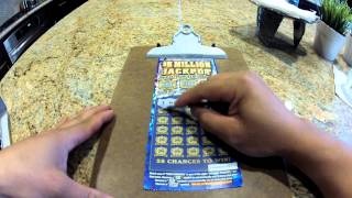 $5 Million Jackpot Scratcher - CA Lottery Win Caught with GoPro