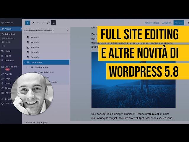 Full Site Editing e altre novità di WordPress 5.8;Come escludere pagine dai risultati di ricerca di WordPress;Organizzare la libreria media di WordPress in cartelle con FileBird e HappyFiles;Come gestire i colori sul tuo sito WordPress;Creare home page su WordPress senza l'elenco degli ultimi articoli;Immagini gratuite per il tuo sito WordPress a portata di clic;Crea visualizzazioni personalizzate su WordPress con Toolset;Creare Custom Post Type e tassonomie personalizzate su WordPress;Come generare testi e immagini casuali per articoli e pagine su WordPress;Come effettuare il downgrade di WordPress e tornare alla versione precedente;Inserire file PDF su WordPress con PDF Embedder;Creare tabelle su WordPress con TablePress;Come evidenziare i contenuti più importanti del tuo sito WordPress;Widget su WordPress: come crearli con WP Views in modo semplice;Come fare un backup di un sito WordPress;Come disattivare le notifiche dei plugin nell'area di amministrazione di WordPress