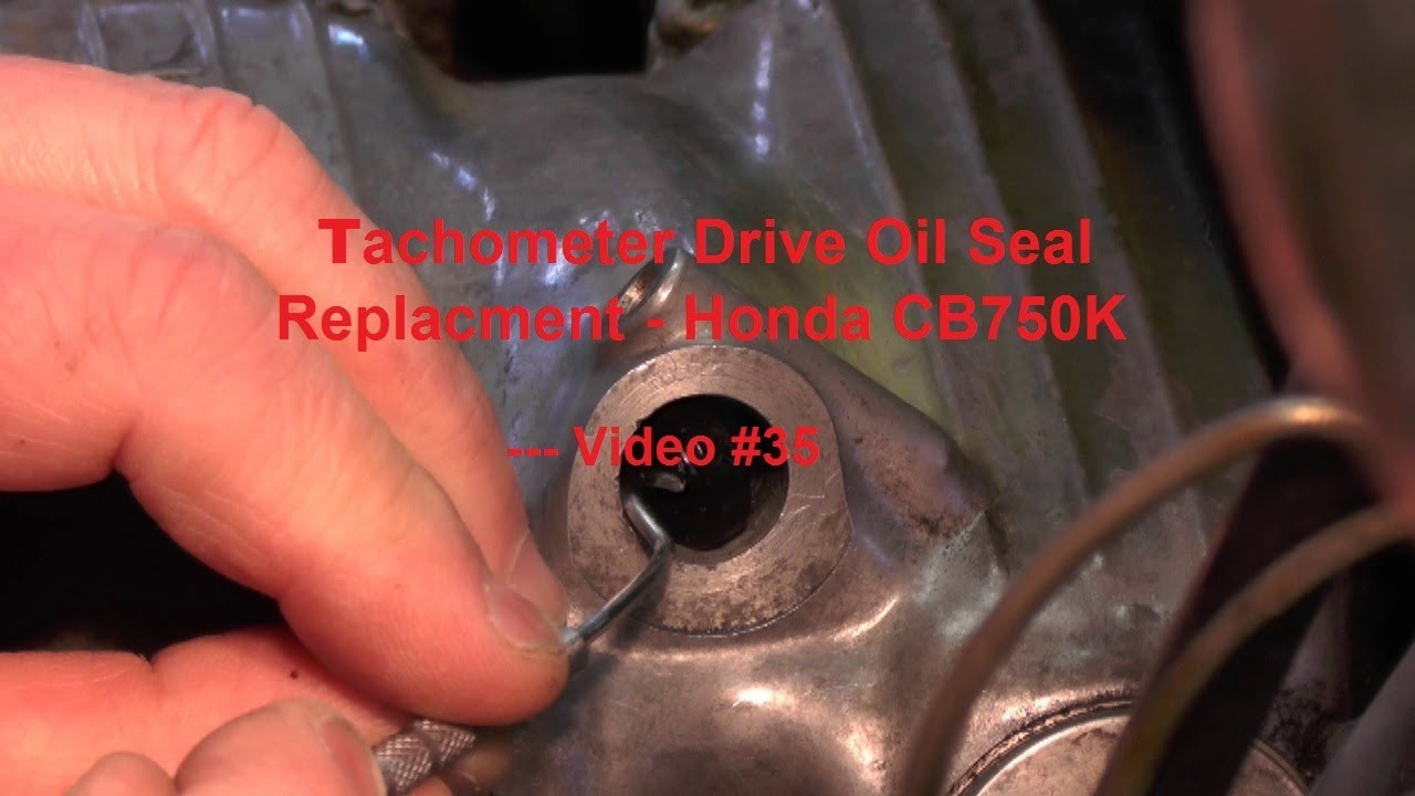 hight resolution of tachometer drive oil seal replacment honda cb750k video 35 youtube