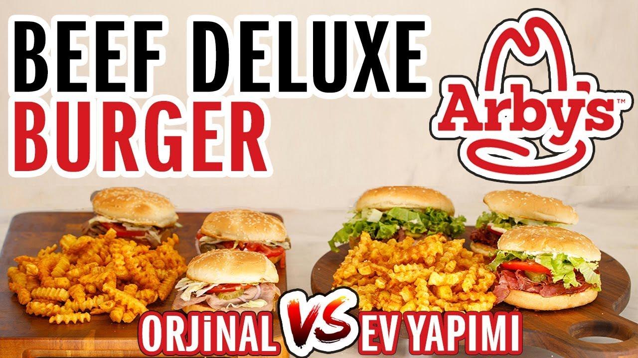 Arby's - Deluxe Burger (Challenge) Meydan Okuması | Evde Arbys Menü Yapmak