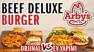 Arby's - Deluxe Burger (Challenge) Meydan Okuması   Evde Arbys Menü Yapmak