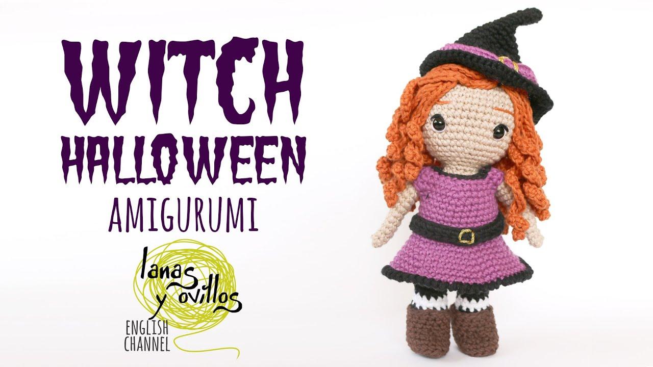 Tutorial Amigurumi Witch Halloween Crochet Lanas Y Ovillos In English Youtube