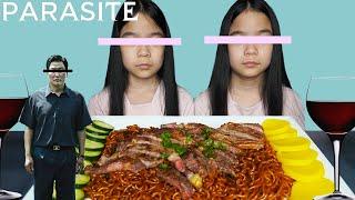 ASMR RAM-DON (JJAPAGURI from PARASITE Movie) No Talking | Tran Twins