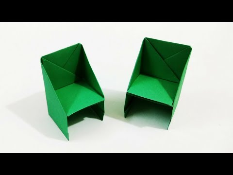 Origami Chair | How to Make a Paper Chair | Origami Furniture | Craftastic