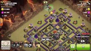 Clash of clans - Th9 GoHog attack for 3Stars