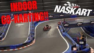 Video WORLD'S LARGEST INDOOR GO-KART TRACK!!   NasKart Indoor Karting & Trampoline Park download MP3, 3GP, MP4, WEBM, AVI, FLV September 2018