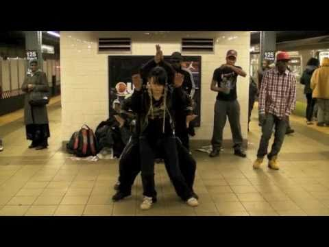 NYC. Electric Boogie 125th Harlem Subway Dance