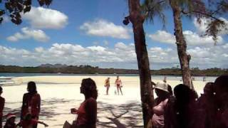 Santa and carol singing in Ile aux Cerf, Mauritius