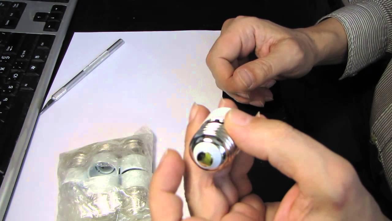 Переходник для ламп с Е14 на Е27 - YouTube