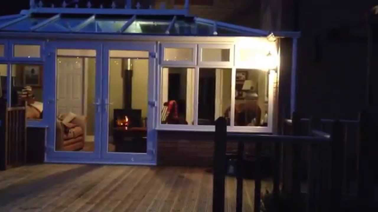 Clearview Wood Stove Through Conservatory Roof Youtube