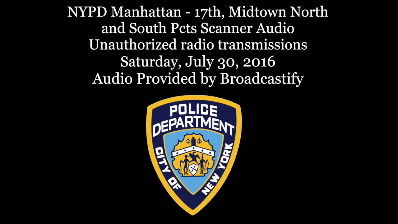 NYPD Midtown Scanner Audio Unauthorized radio transmissions