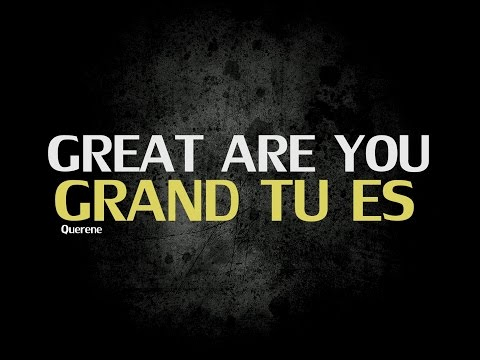 GRAND TU ES DIEU , GREAT ARE YOU LORD IN FRENCH (COVER, LYRICS)