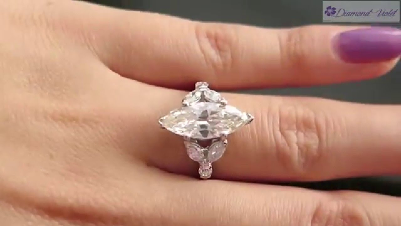 2 65CT ANTIQUE VINTAGE OLD MARQUISE DIAMOND ENGAGEMENT WEDDING RING PLAT  EGL USA