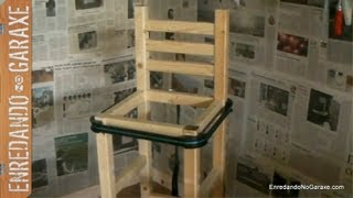 Fabricando Un Taburete Alto Con Respaldo. How To Make A Stool Frame.