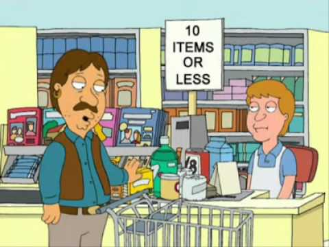 Family Guy - 10 items or less - YouTube