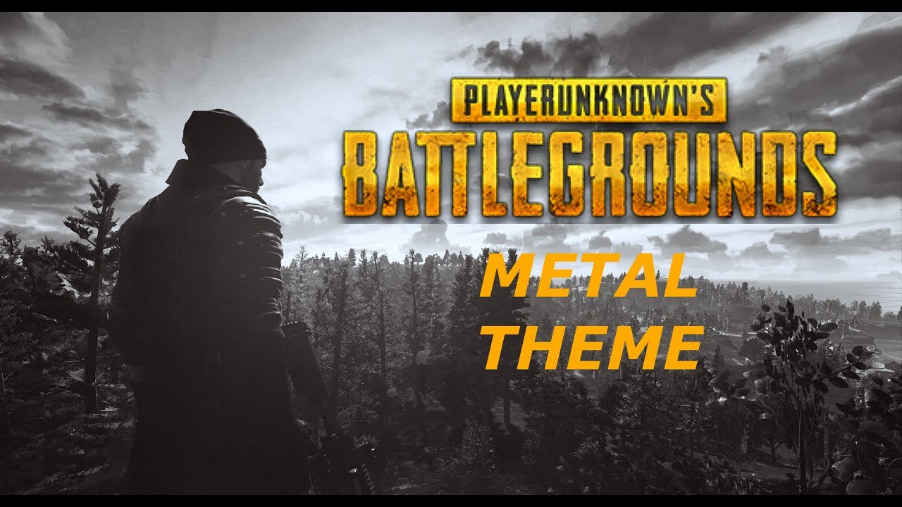 Playerunknown s Battlegrounds PUBG Theme Metal Cover