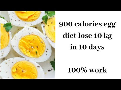 How to Lose 10 kg in 10 days egg diet plan for fast weight loss 2020