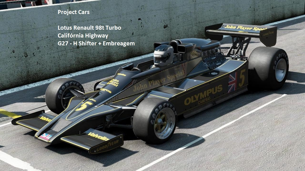 Project Cars - Lotus 98T Renault Turbo - G27 H Shifter - YouTube
