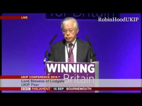 Lord John Stevens speech UKIP Conference 2016