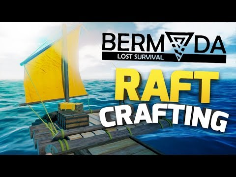Bermuda - Lost Survival - RAFT CRAFTING & FINDING IRON ORE - Raft Survival Gameplay