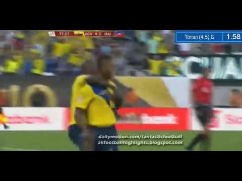Antonio Valencia Ecuador 4 vs Haiti 0 cuarto gol