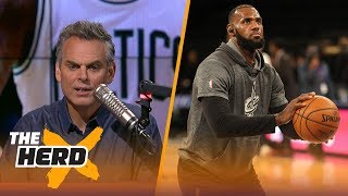 Colin Cowherd has a hard time believing LeBron James loves the Kyrie Irving trade | THE HERD