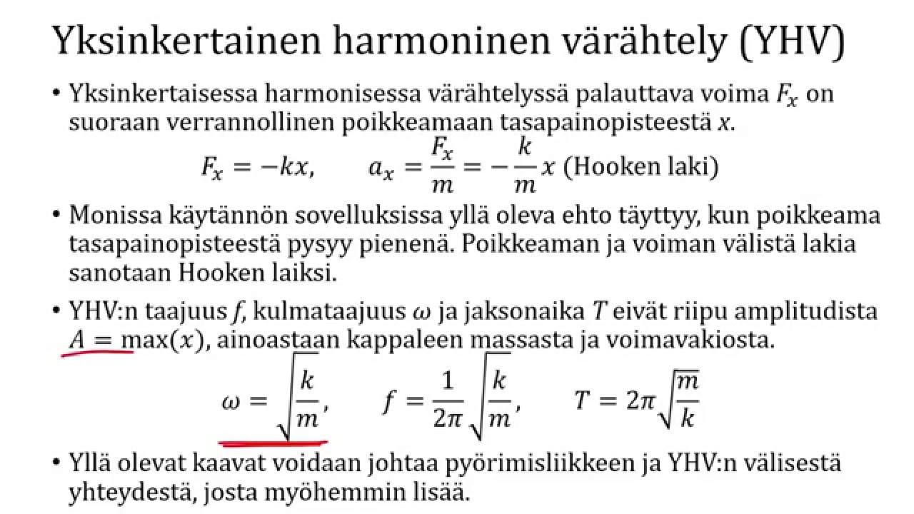 Harmoninen Värähtely