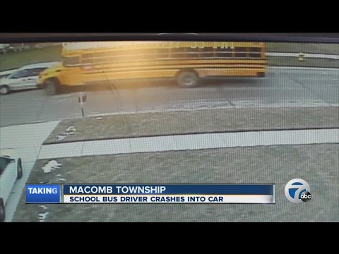 New Haven school bus driver who slammed into car was high