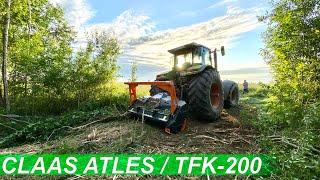 Расчистка полей мульчером TMC Cancela TFK-200 с трактором CLAAS ATLES. Ввод в сельхозоборот