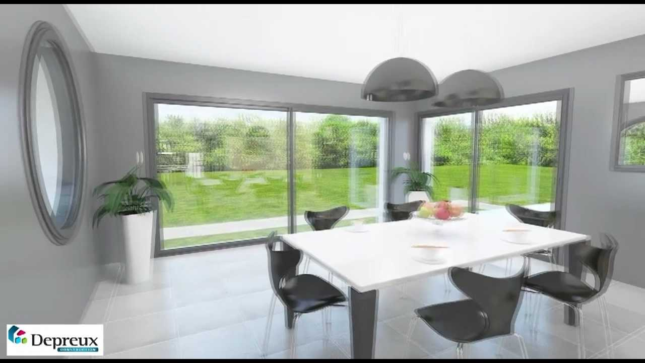 Construction depreux visite 3d d 39 une maison tage youtube for Maison interieur 3d