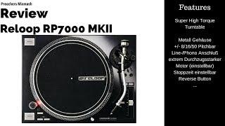 Der Technics Nachfolger? Reloop RP7000 MK2 Hightorgue Turntable Review (Deutsch HD 2018)