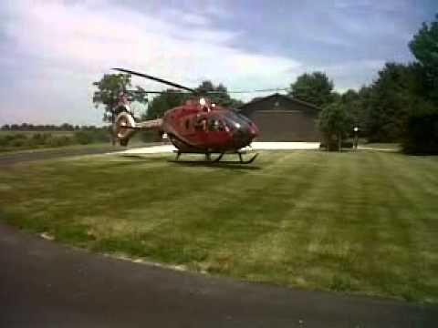 Beck's Hybrids helicopter taking off from Hunt Farm - YouTube