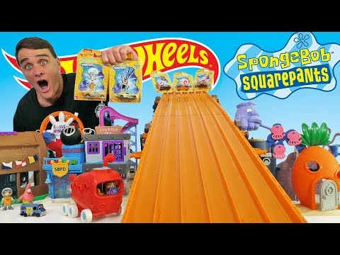 spongebob-hot-wheels-super-six-lane-bikini-bottom-race-!-||-toy-review-||-konas2002