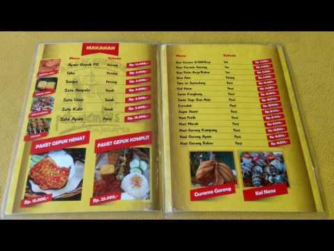 Daftar Menu Ayam Gepuk Pak Gembus Jogjakarta
