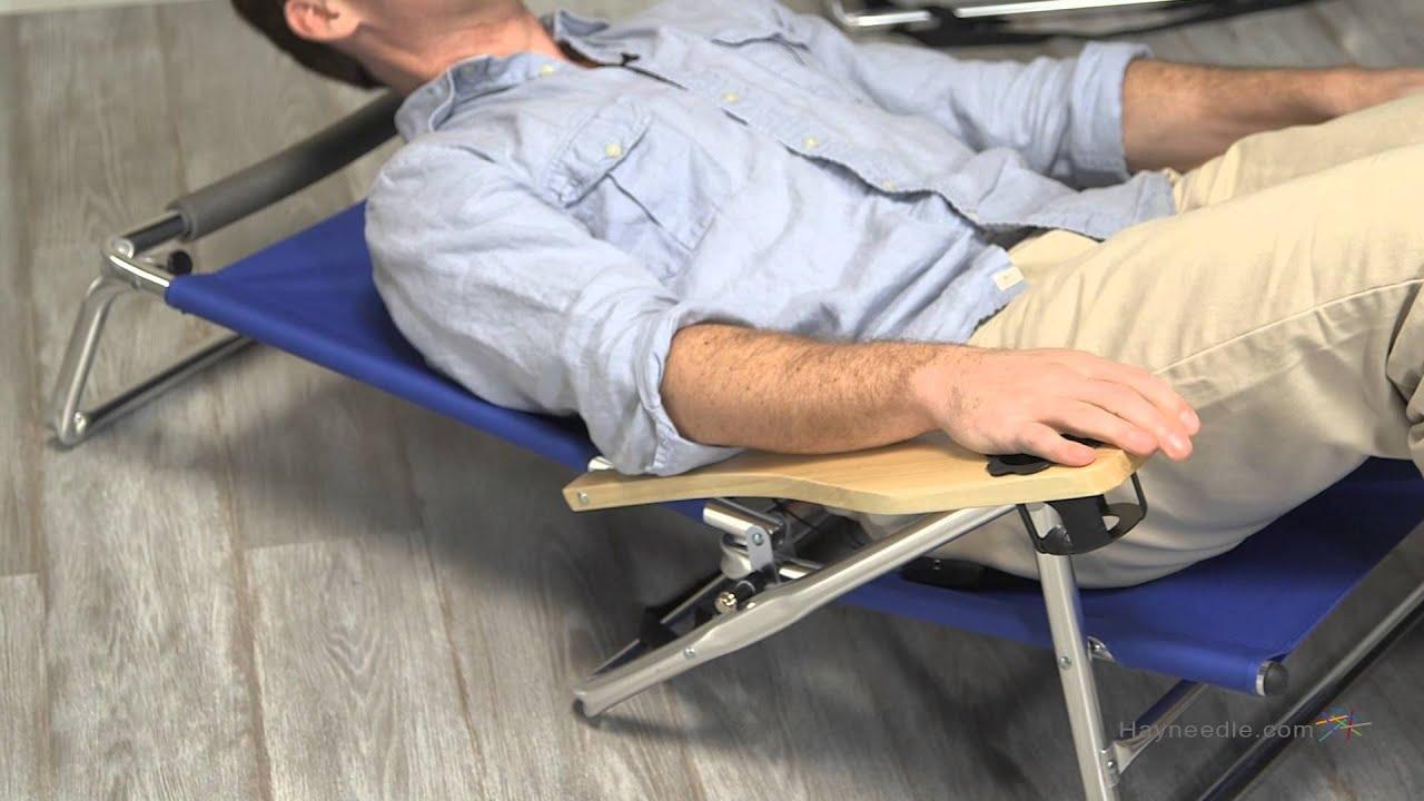 Lay Down Beach Chairs  copa 5 position lay flat aluminum ch