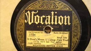 Washboard Rhythm Kings: It Don