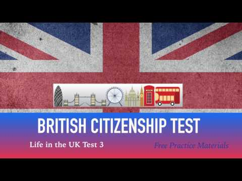 LIFE IN THE UK TEST 2017 - BRITISH Citizenship TEST (3 of 40)