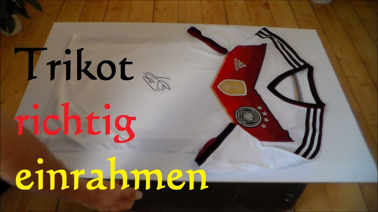 fussball trikot richtig einrahmen how to frame a football jersey youtube. Black Bedroom Furniture Sets. Home Design Ideas