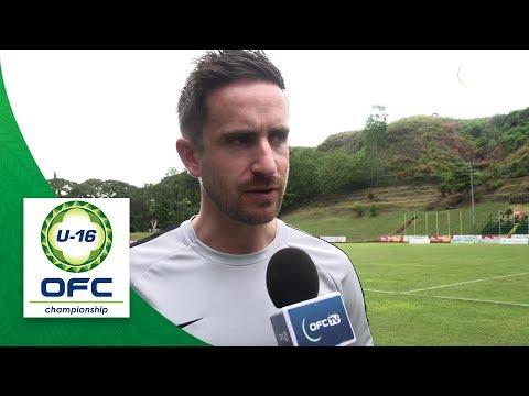 2018 OFC U16 CHAMPIONSHIP - VANUATU v NEW ZEALAND - Post Match  Interview