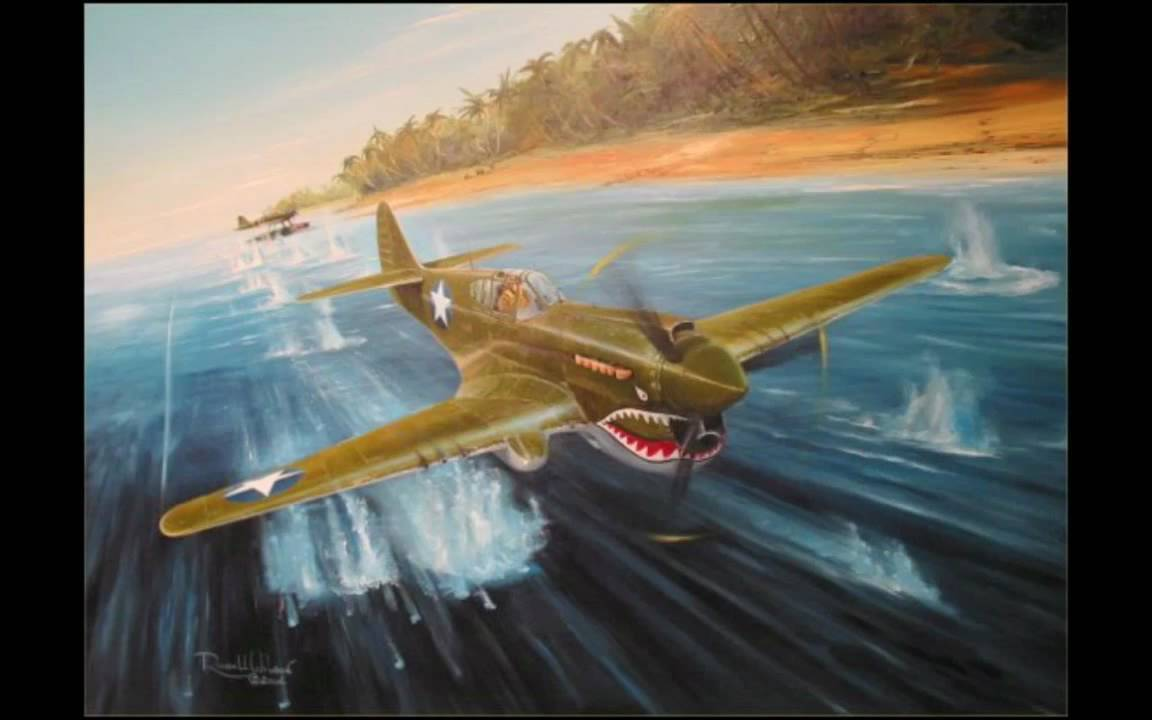 Aviation Art - P-40 Warhawk - YouTube