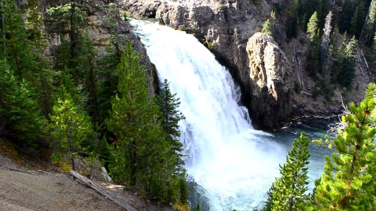Upper Falls ... Waterfalls Of Yellowstone . Upper Falls