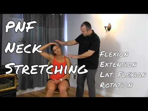 Neck PNF Streches & Myofascial Release