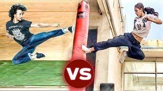 Download lagu Tiger Shroff Vs Disha Patani LIVE STUNTS | Disha Patani Stunts | Tiger Shroff Stunts