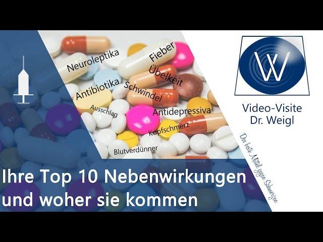 Kennen Sie die 10 häufigsten Nebenwirkungen? Diese 10 Medikamente machen am häufigsten Probleme! ❗